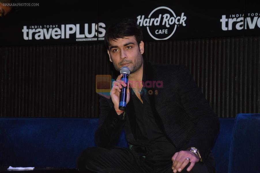 Vivian Dsena at the unveiling event of Travel Plus Sept. 2014 in Hard Rock Cafe on 17th Sept 2014