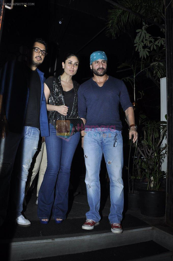 Kareena Kapoor, Saif Ali Khan snapped at Nido in Mumbai on 29th Sept 2014