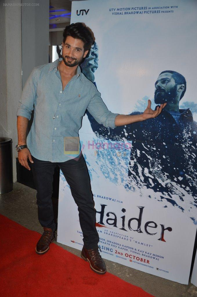 Shahid Kapoor at Haider screening in Sunny Super Sound on 30th Sept 2014