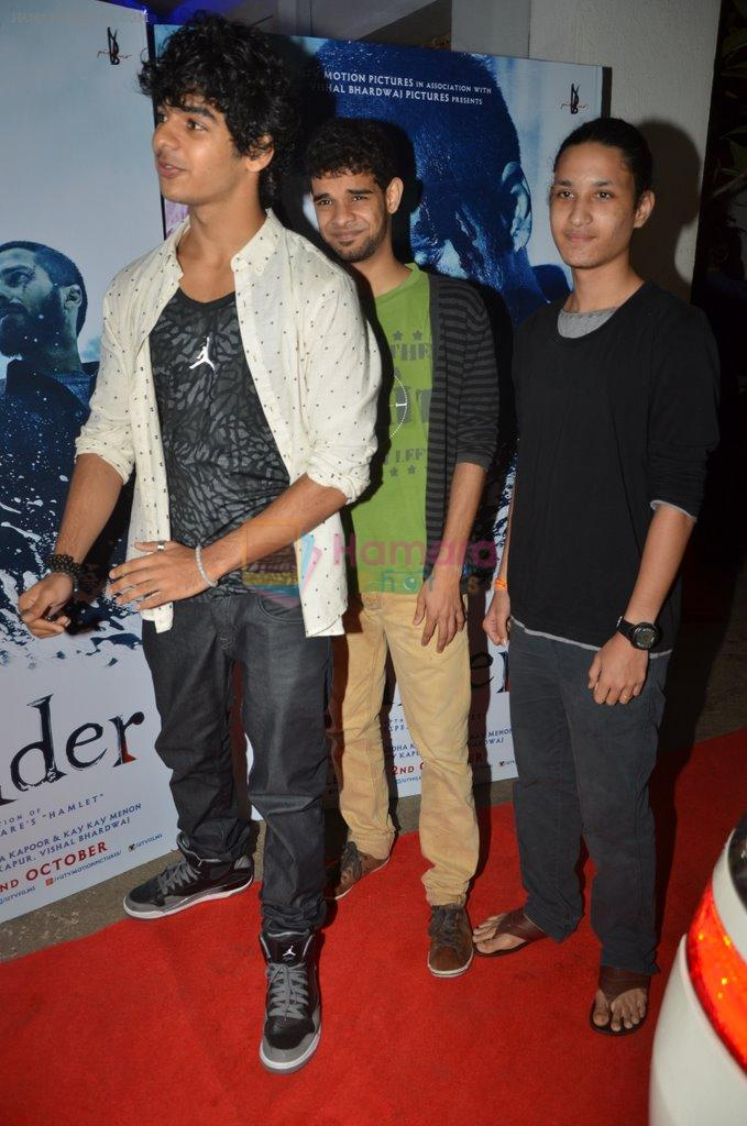 Ishaan Khattar at Haider screening in Sunny Super Sound on 30th Sept 2014