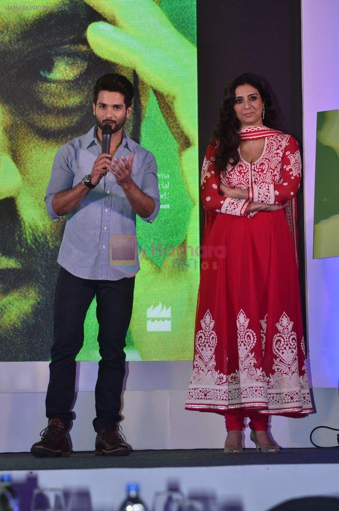Tabu Shahid Kapur at Haider book launch in Taj Lands End on 30th Sept 2014