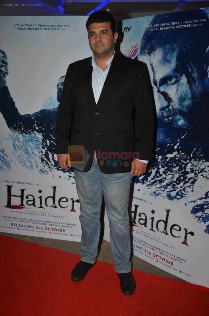 Siddharth Roy Kapur at Haider screening in Sunny Super Sound on 30th Sept 2014