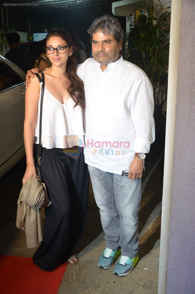 Aditi Rao Hydari, Vishal Bharadwaj at Haider screening in Sunny Super Sound on 30th Sept 2014