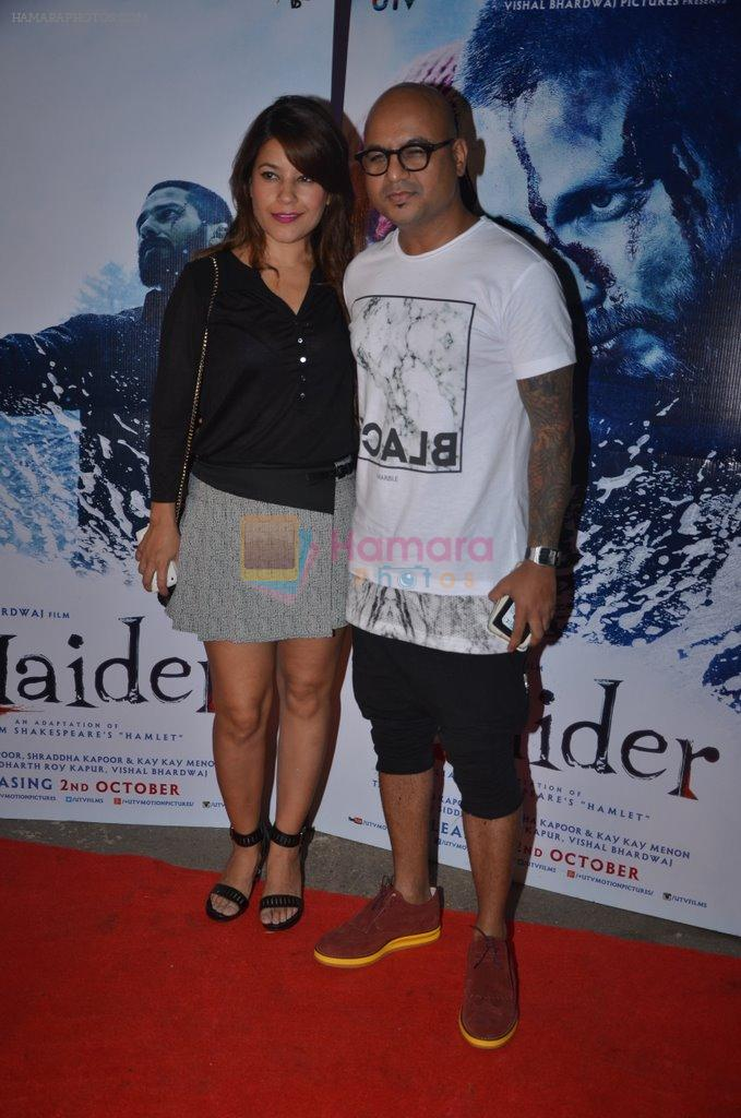 at Haider screening in Sunny Super Sound on 30th Sept 2014