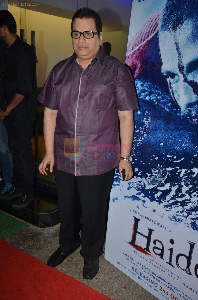 Ramesh Taurani at Haider screening in Sunny Super Sound on 30th Sept 2014