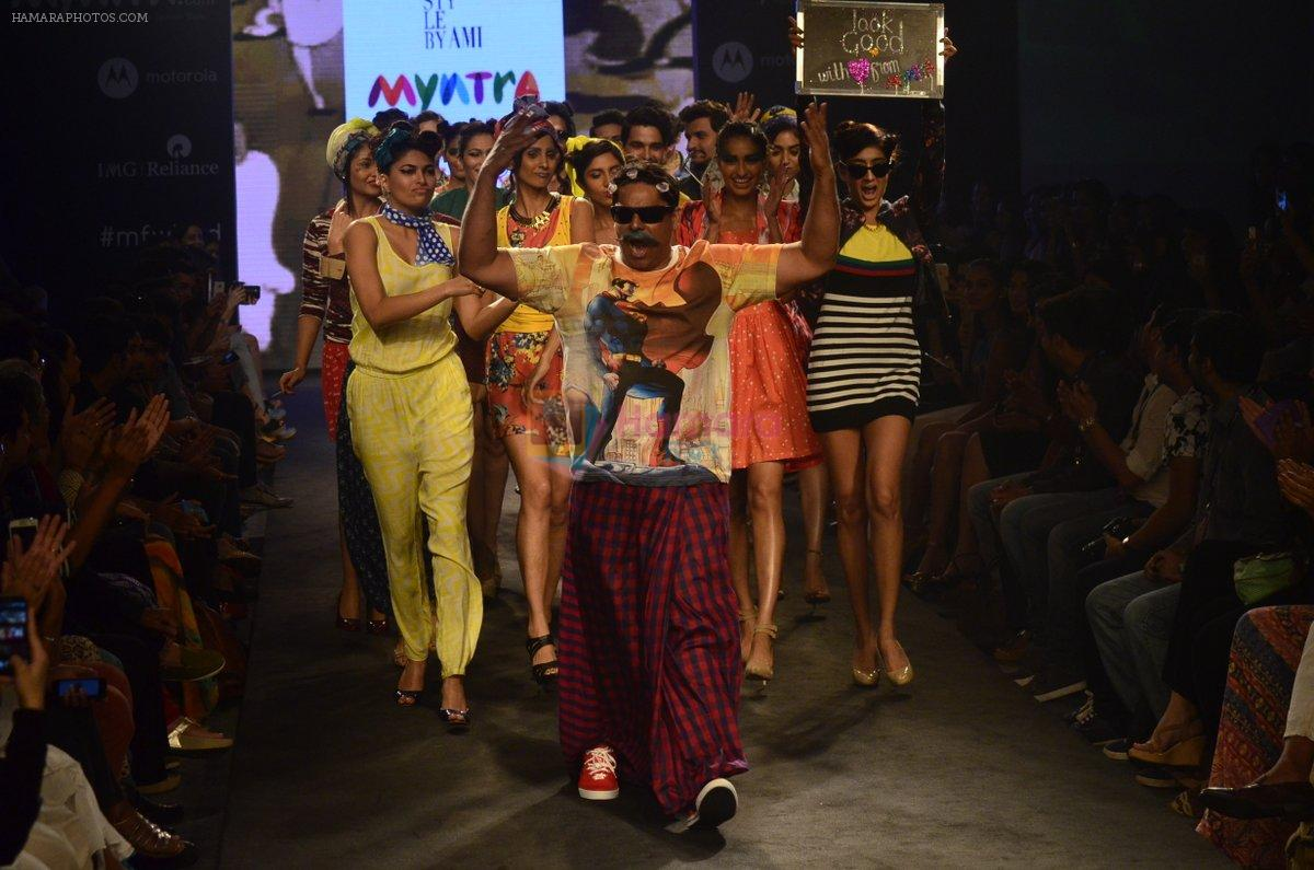 Cyrus Broacha walk for Kalki show at Myntra fashion week day 2 on 4th Oct 2014