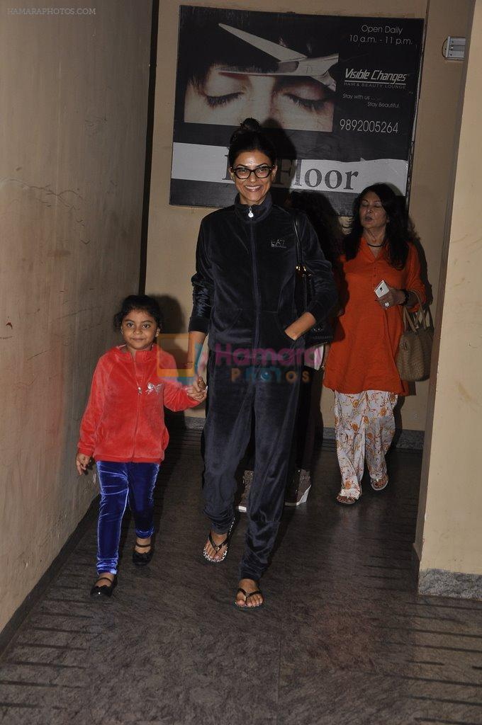 Sushmita Sen snapped with family at PVR on 4th Oct 2014