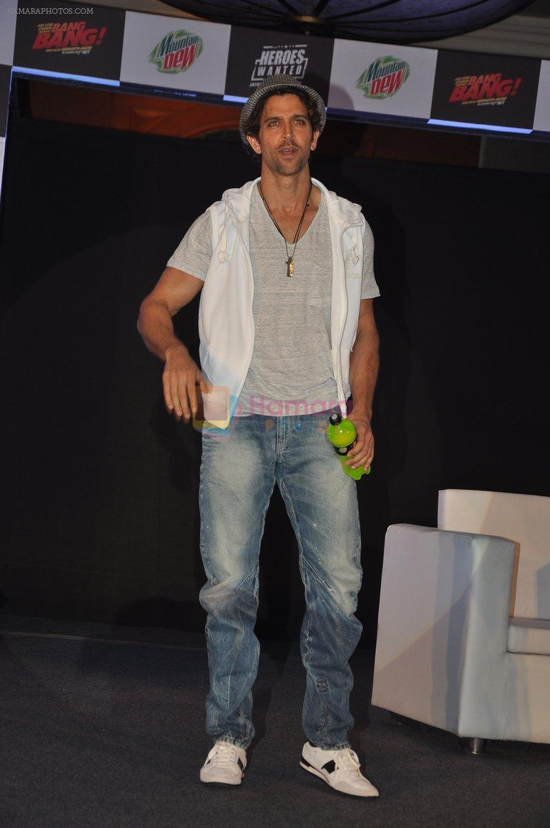 Hrithik Roshan at Bang Bang Mountain Dew event on 1st Oct 2014