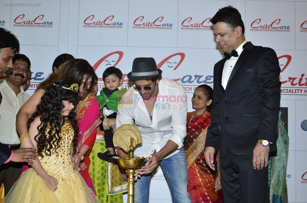 Hrithik Roshan at Criticare hospital launch in Mumbai on 4th Oct 2014
