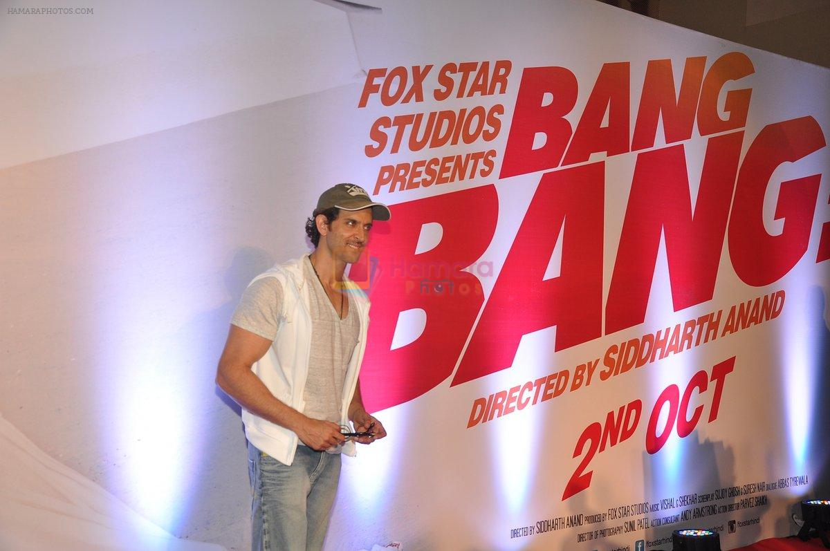 Hrithik Roshan at Bang Bang special screening hosted by Hrithik Roshan on 1st Oct 2014
