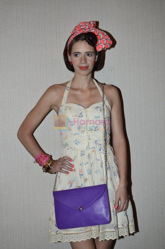 Kalki Koechlin walk for Kalki show at Myntra fashion week day 2 on 4th Oct 2014