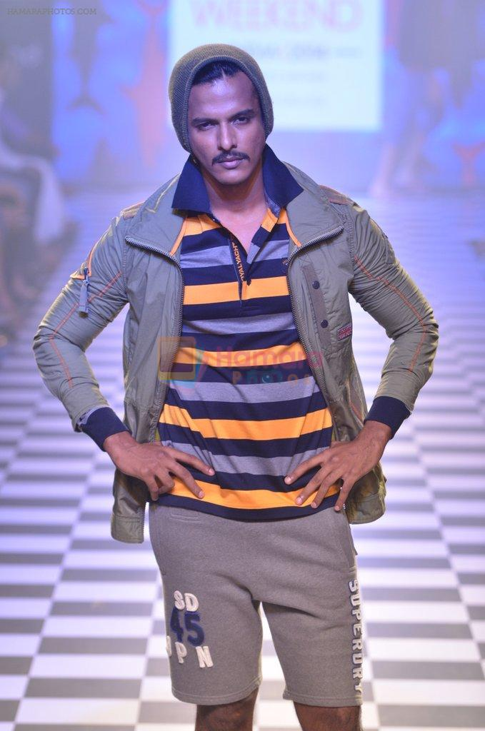 Model walks for Men's Health show at Myntra fashion week day 2 on 4th Oct 2014