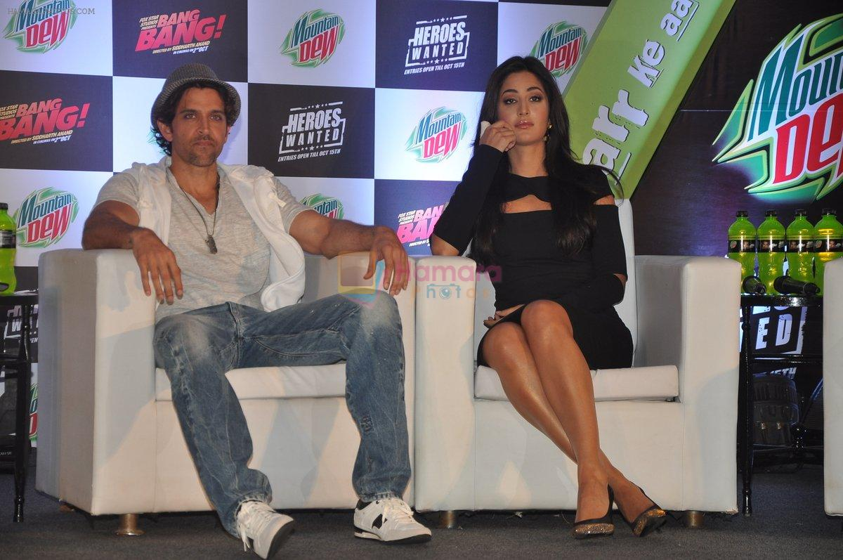 Hrithik Roshan, Katrina Kaif at Bang Bang Mountain Dew event on 1st Oct 2014
