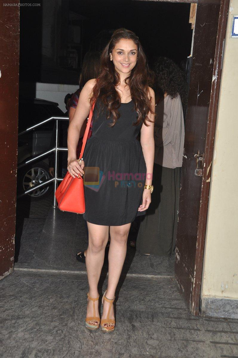 Aditi Rao Hydari at Bang Bang special screening hosted by Hrithik Roshan on 1st Oct 2014