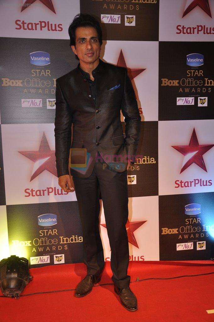 Sonu Sood at Star Plus box Office Awards in Mumbai on 9th Oct 2014
