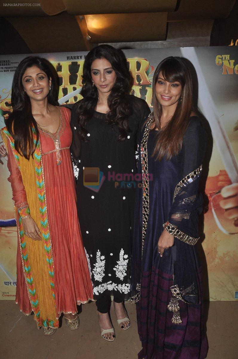 Bipasha Basu, Shilpa Shetty, Tabu at the Launch of Chaar Sahibzaade by Harry Baweja in Mumbai on 22nd Oct 2014