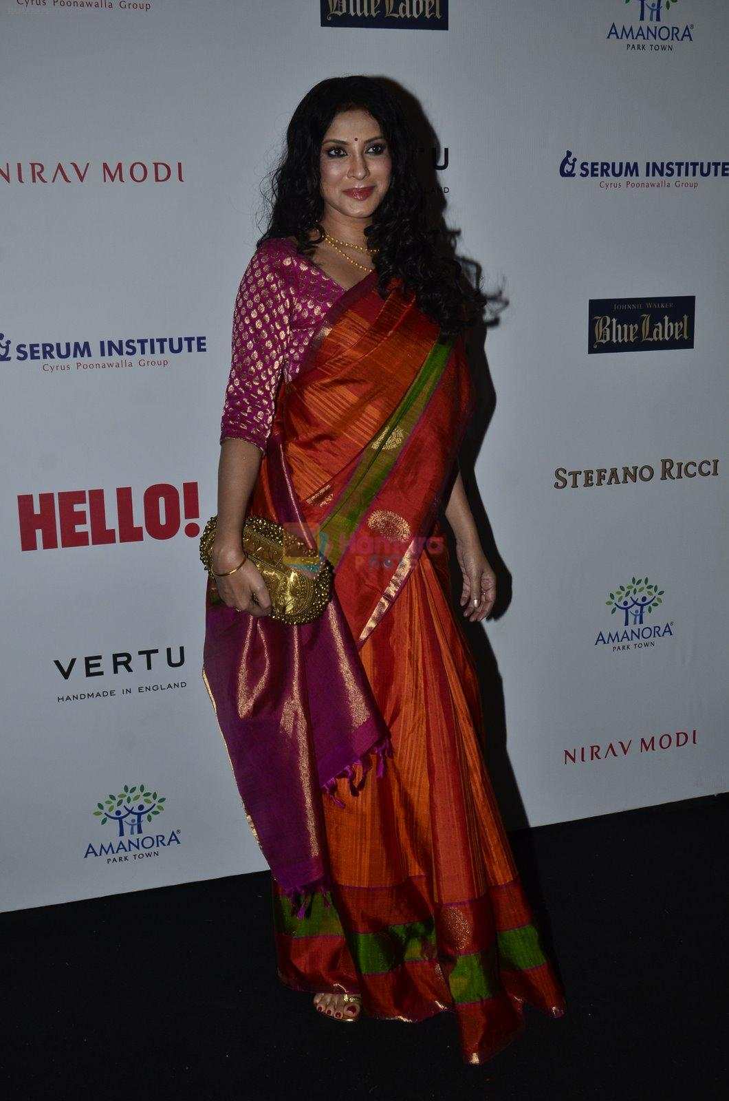 Nandana Sen at Hello Hall of fame red carpet 2014 in Mumbai on 9th Nov 2014