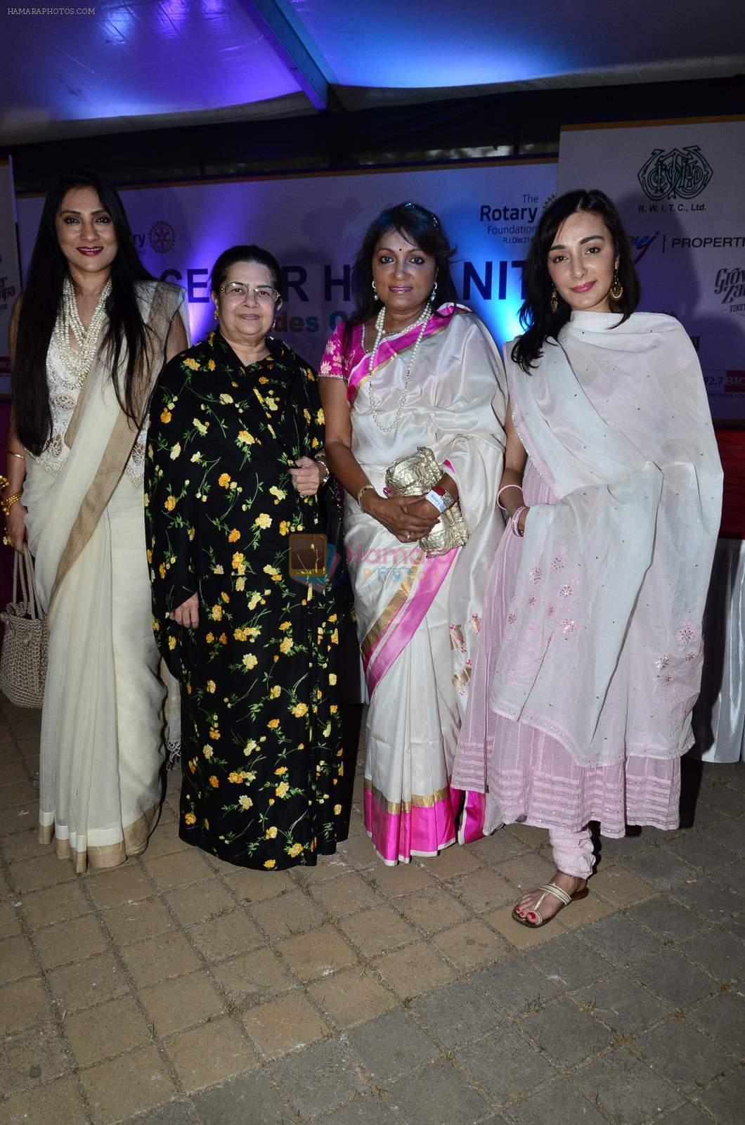 Feryna Wazheir, Aarti Surendranath at rotary race in Mumbai on 23rd Nov 2014
