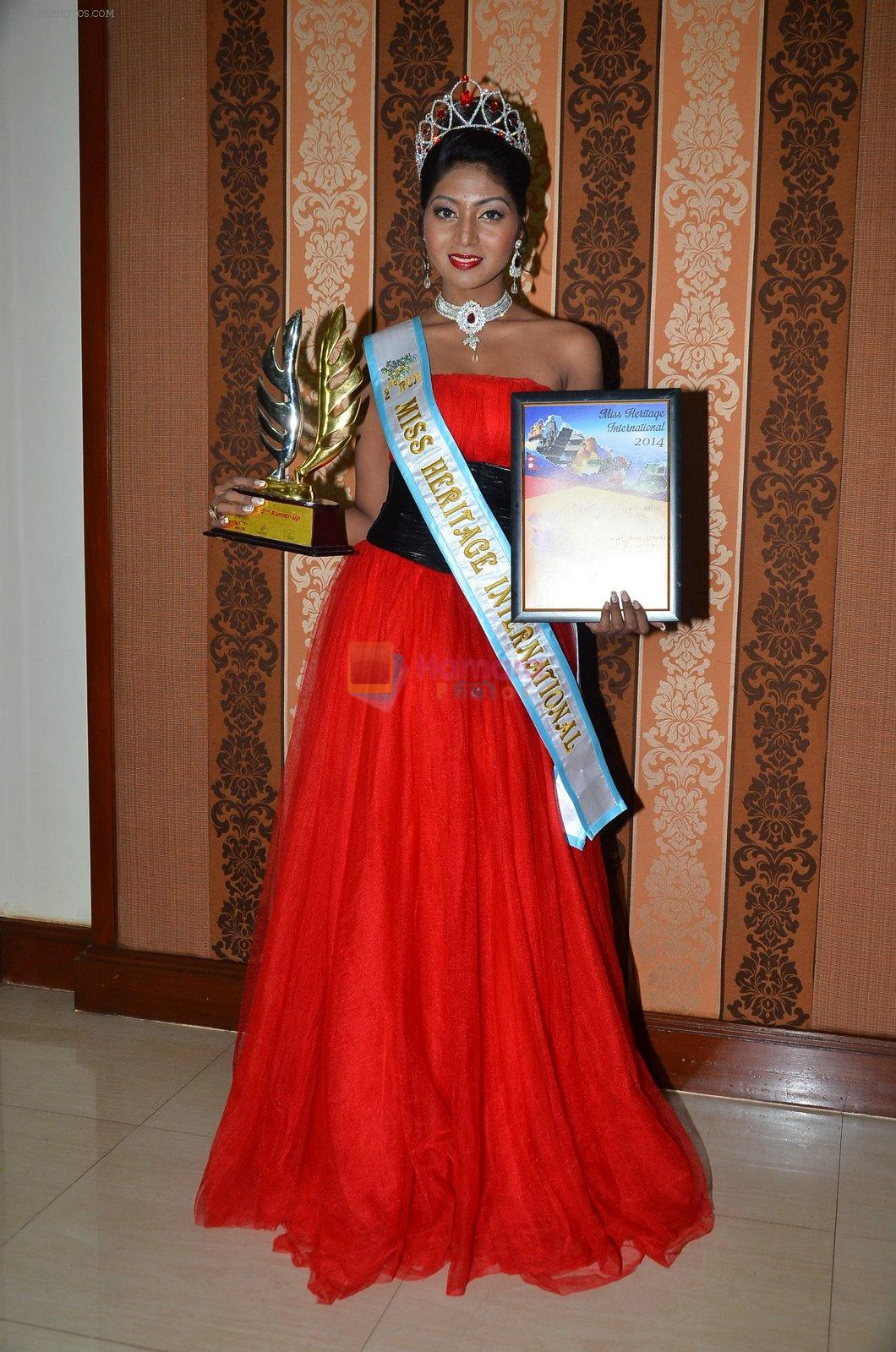 Shital Upare, second runner-up Miss Heritage International in Kohinoor on 9th Dec 2014