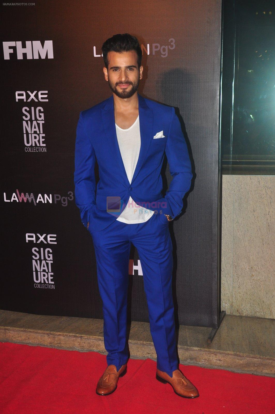 Karan Tacker at Fhm bachelor of the year bash in Hard Rock Cafe on 22nd Dec 2014