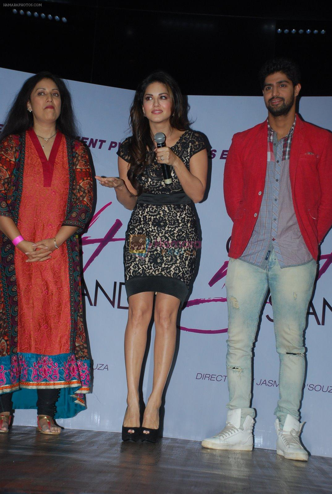 Sunny leone, Tanuj Virwani at One Night stand promotions in Mumbai on 24th Dec 2014