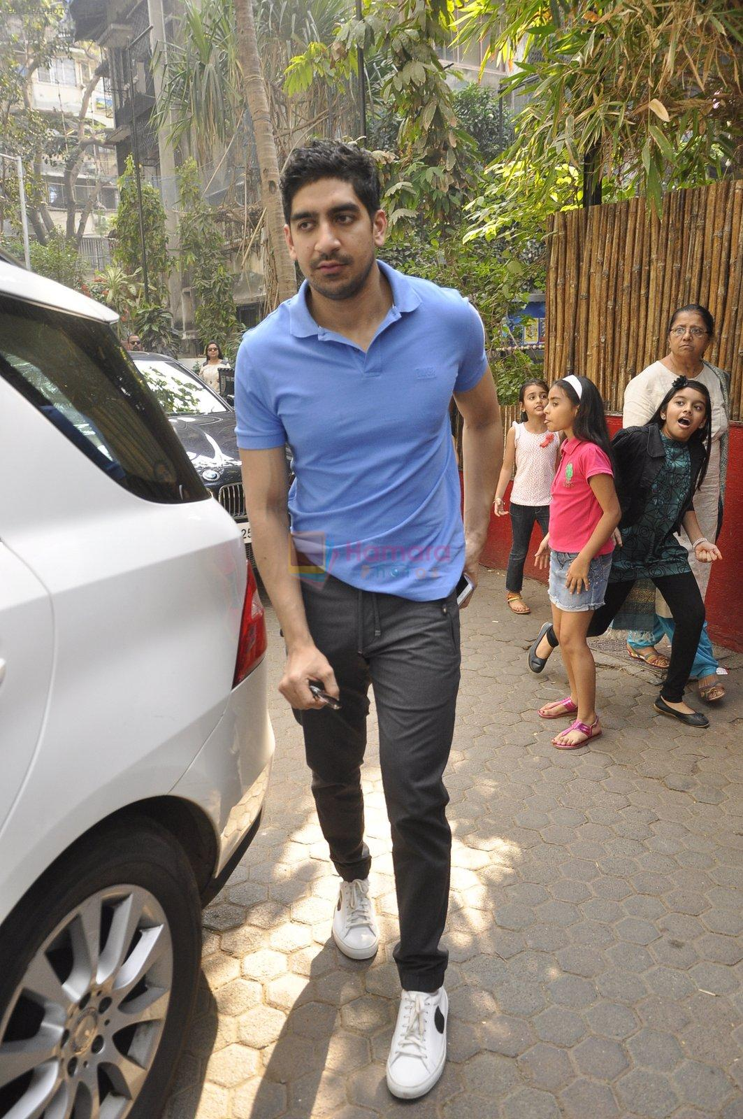 Ayan Mukerji at The Kapoors Christman Lunch Get-together  in Mumbai on 25th Dec 2014