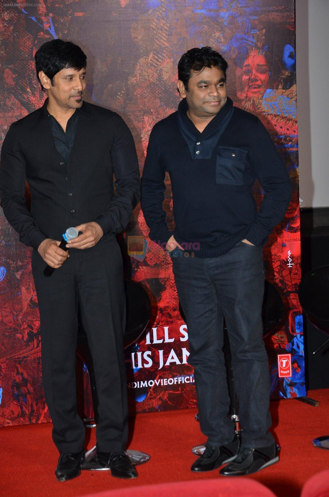Chiyaan Vikram, A R Rahman at I movie trailor launch in PVR, Mumbai on 29th Dec 2014