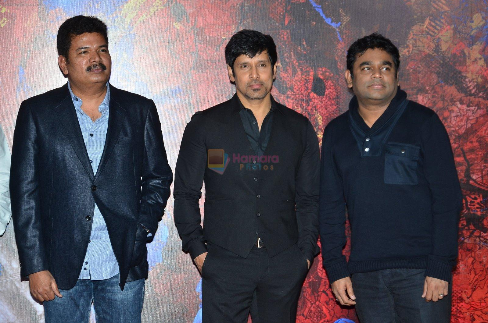 Shankar, Chiyaan Vikram, A R Rahman at I movie trailor launch in PVR, Mumbai on 29th Dec 2014