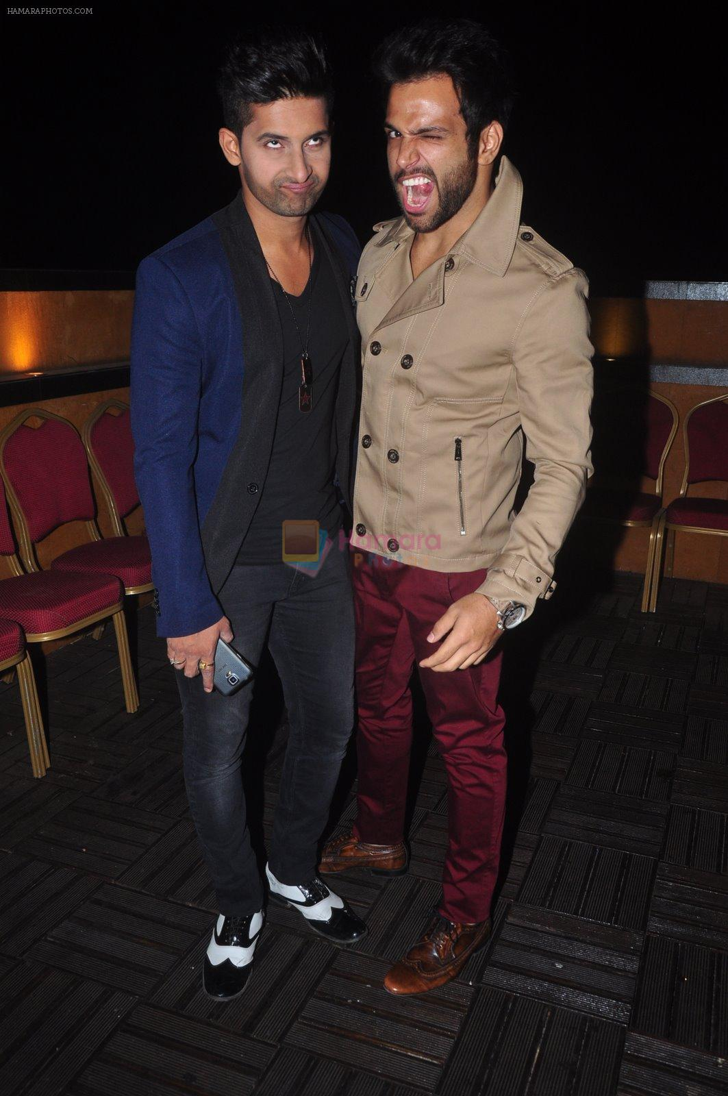 Rithvik Dhanjani at Ravi Dubey's birthday bash hosted by Sargun mehta in Mumbai on 29th Dec 2014