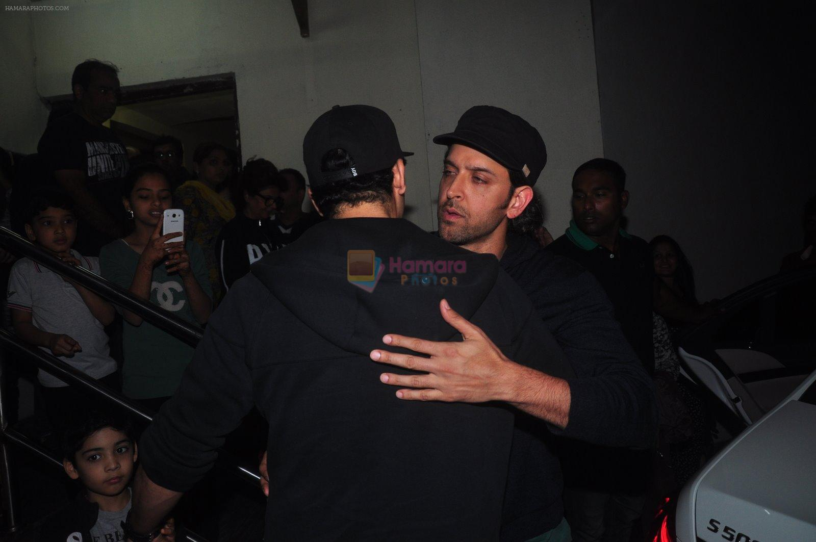 Hrithik Roshan, Zayed Khan snapped at PVR on 29th Dec 2014