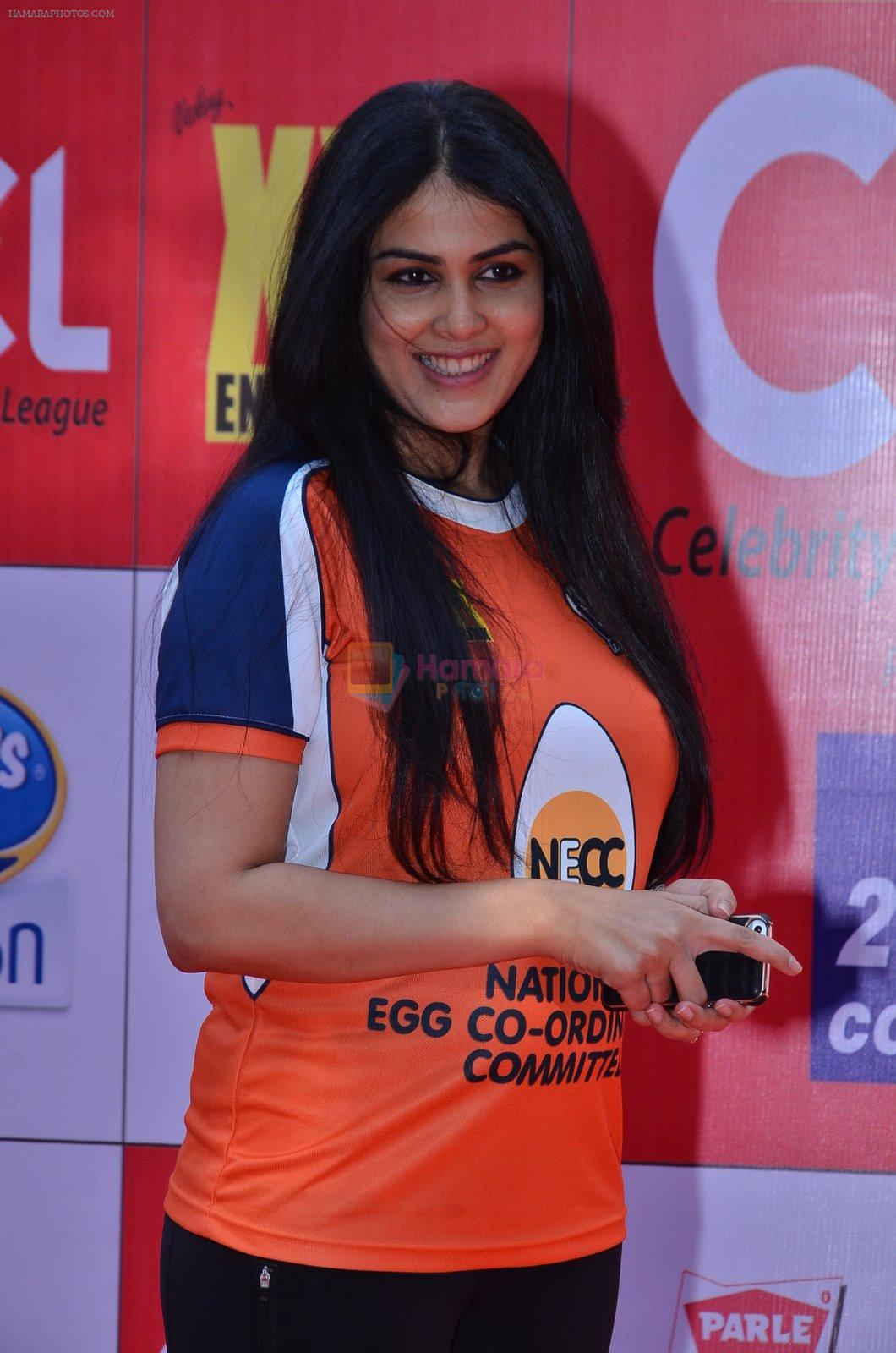 Genelia D Souza at CCL Red Carpet in Broabourne, Mumbai on 10th Jan 2015