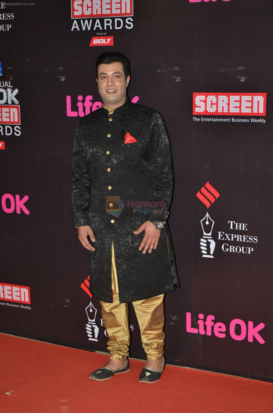 Varun Sharma at Life Ok Screen Awards red carpet in Mumbai on 14th Jan 2015