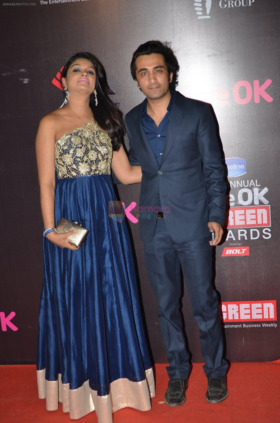 Tejaswini Kolhapure at Life Ok Screen Awards red carpet in Mumbai on 14th Jan 2015