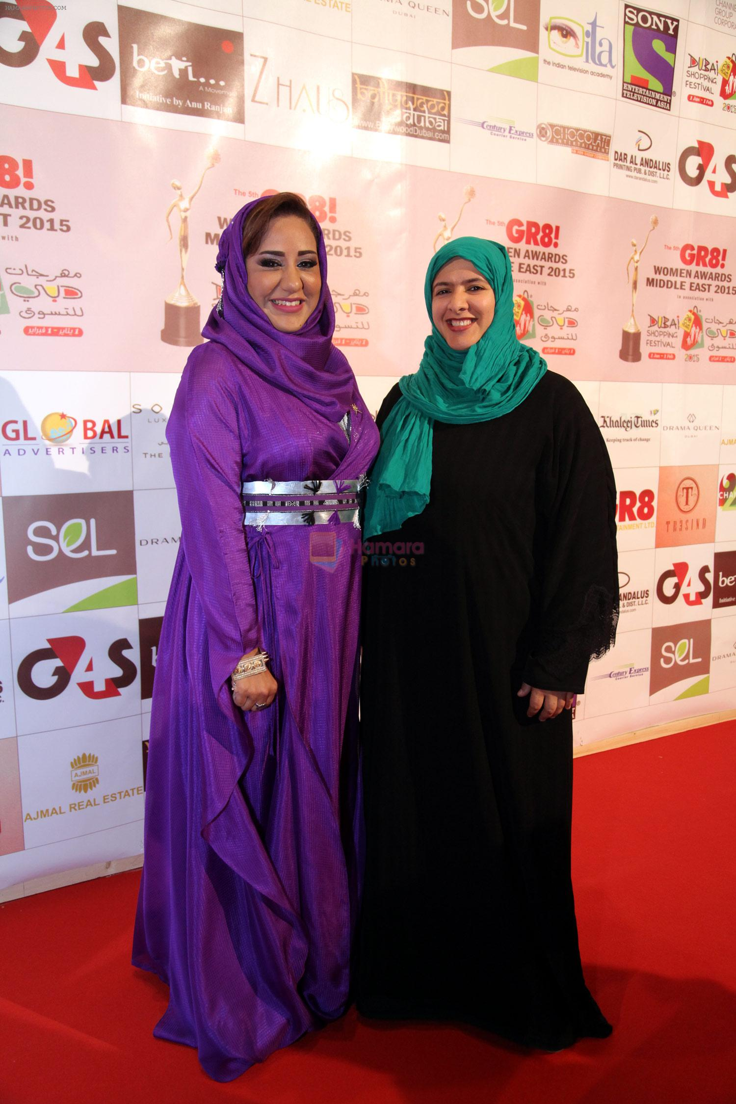 at the Red Carpet of THE GR8! Women Awards-ME 2015, held on the 12th January 2015 at Sofitel, Palms, Dubai