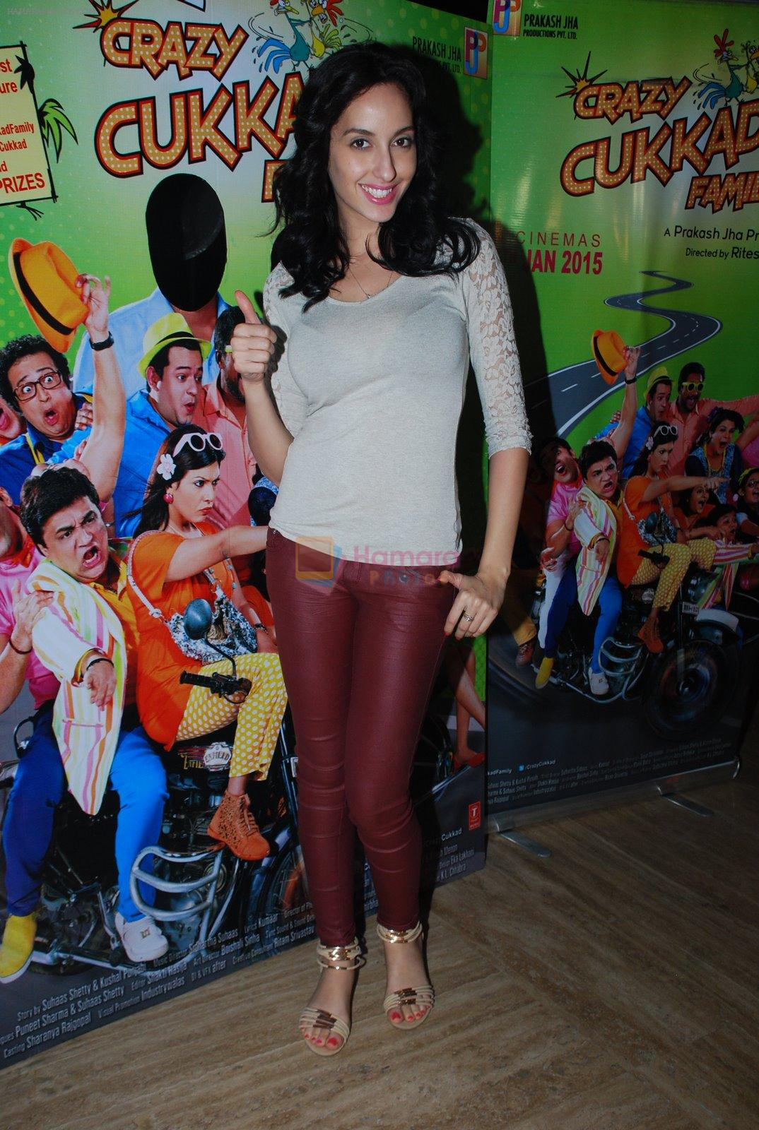 at Crazy Cukkad Family screening in Cinemax, Mumbai on 20th Jan 2015