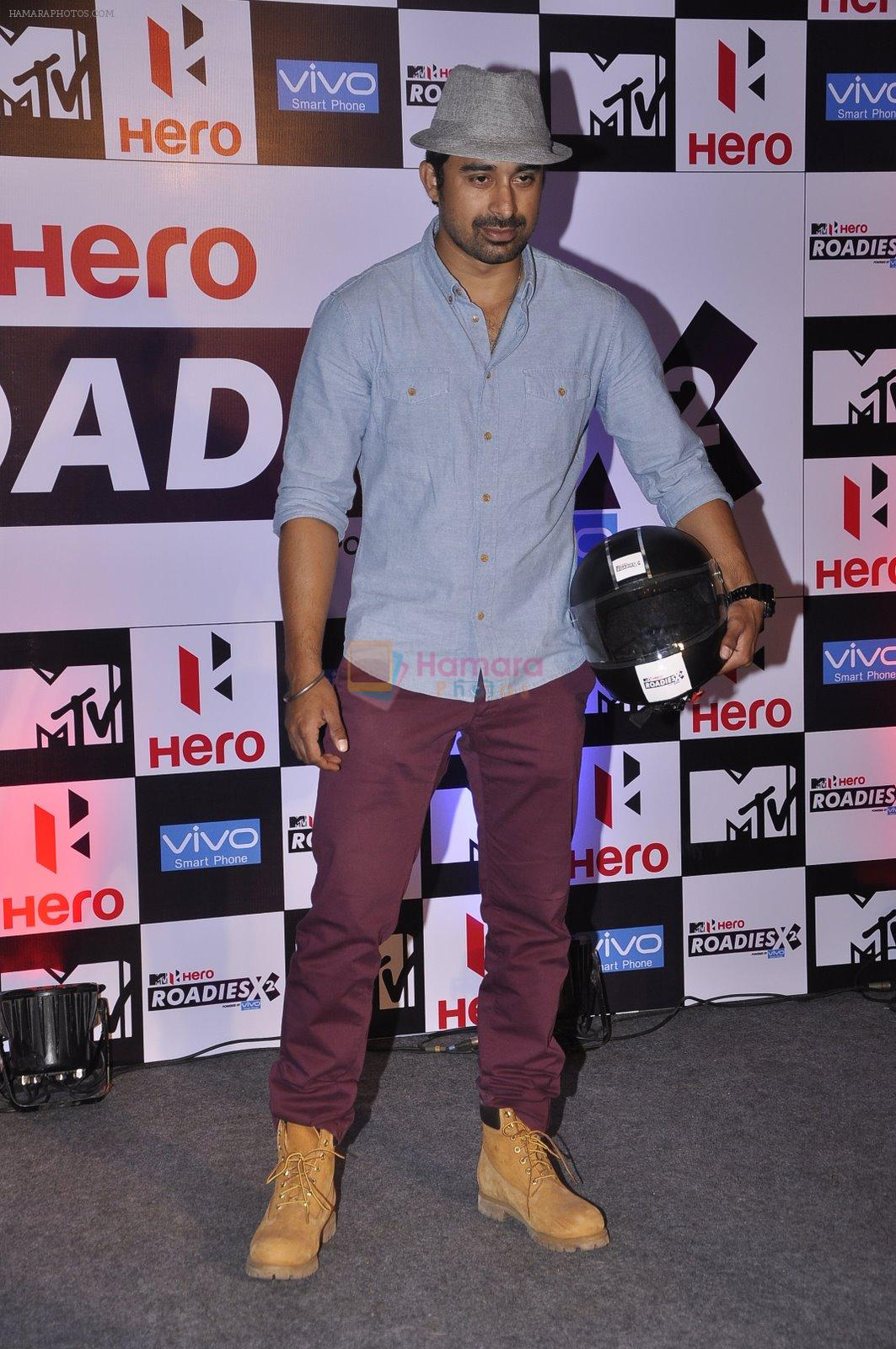 Rannvijay Singh at MTV Roadies press meet in Parel, Mumbai on 22nd Jan 2015