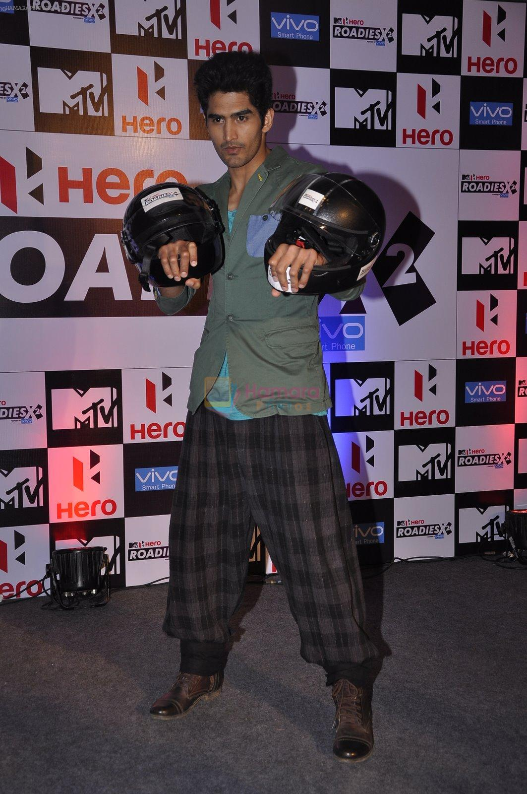 Vijender Singh at MTV Roadies press meet in Parel, Mumbai on 22nd Jan 2015