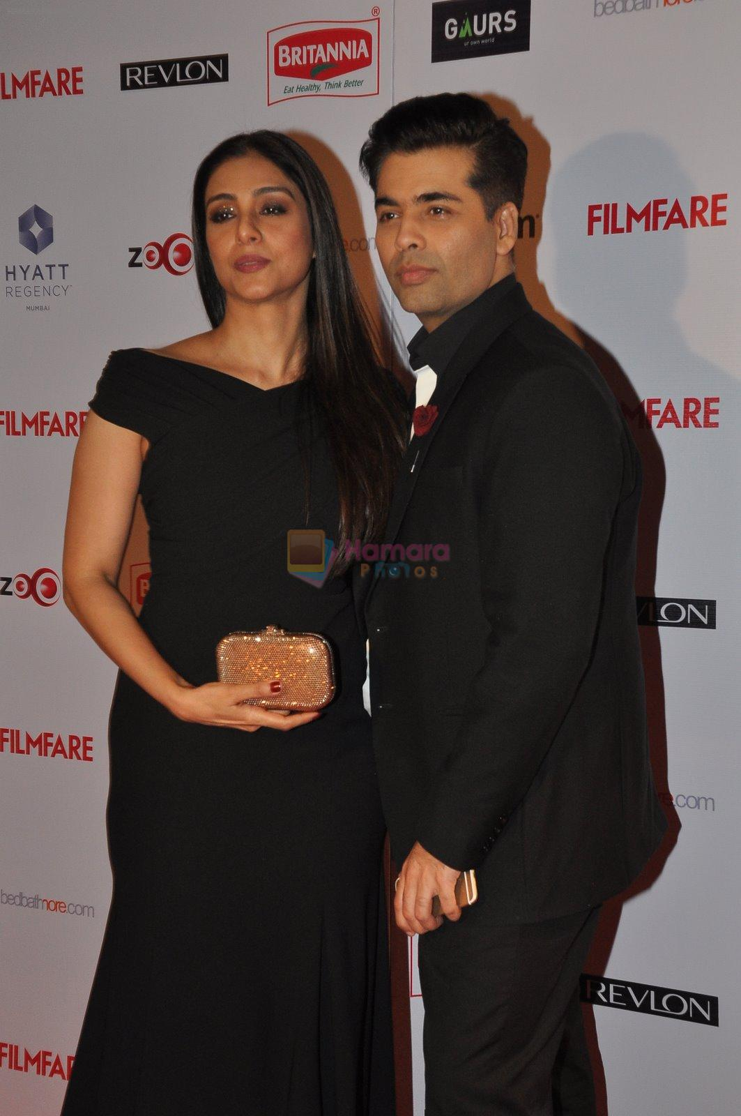 Tabu, Karan Johar at Filmfare Nominations bash in Hyatt Regency, Mumbai on 22nd Jan 2015