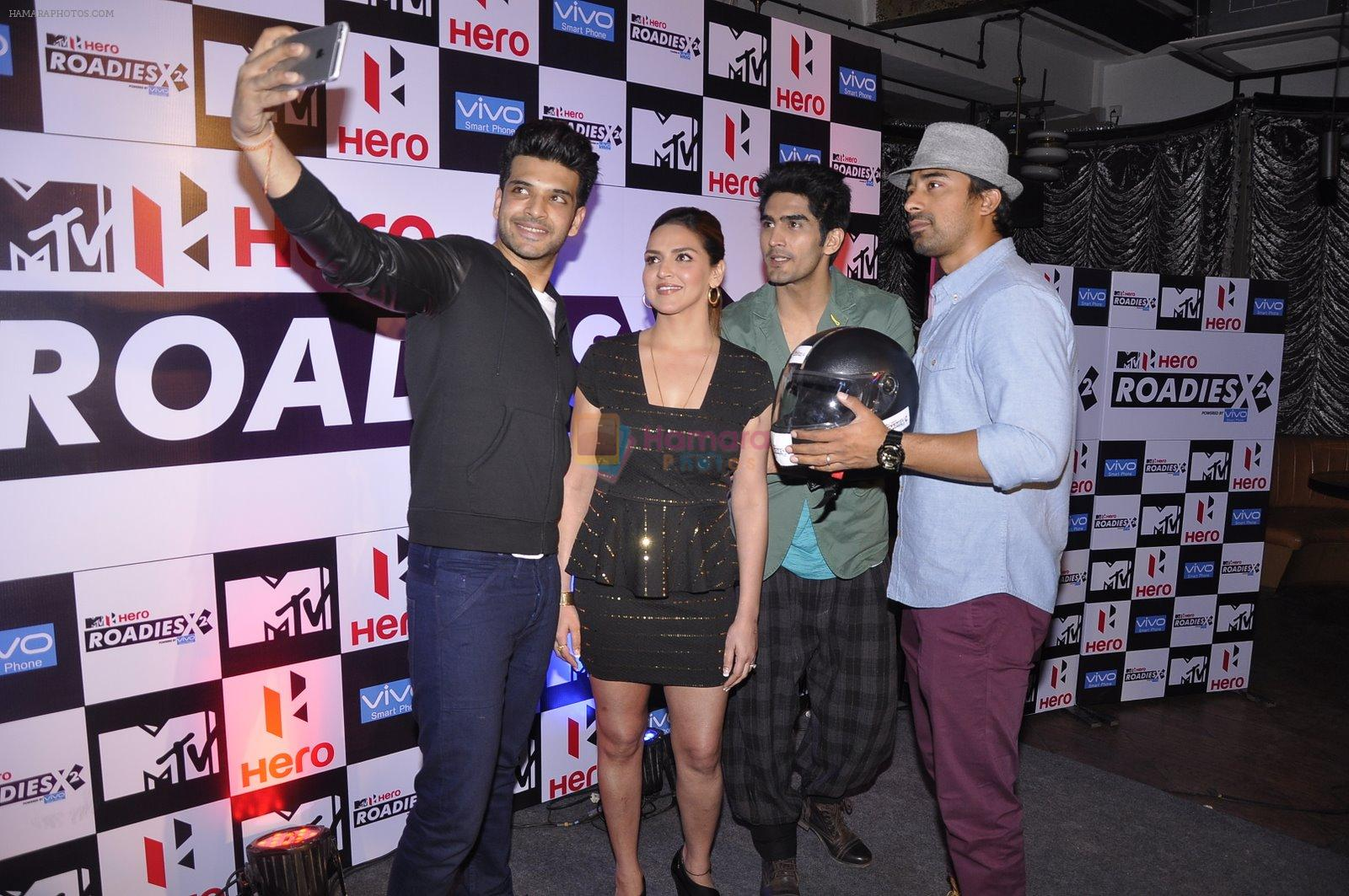 Esha Deol, Vijender Singh, Rannvijay Singh at MTV Roadies press meet in Parel, Mumbai on 22nd Jan 2015