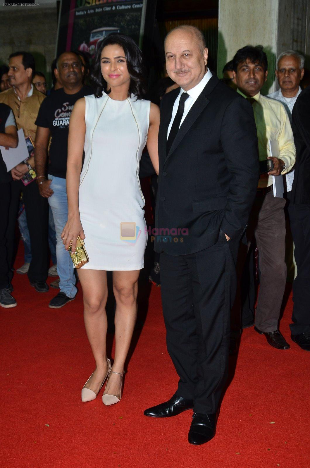 Madhurima Tuli, Anupam Kher at Baby screening in Liberty, Mumbai on 23rd Jan 2015