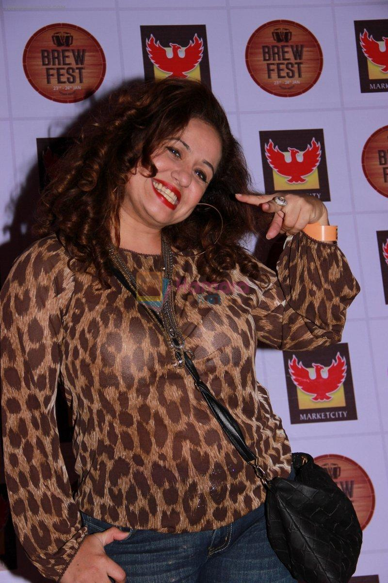 Vandana Sajnani at the Brew Fest in Mumbai on 23rd Jan 2015