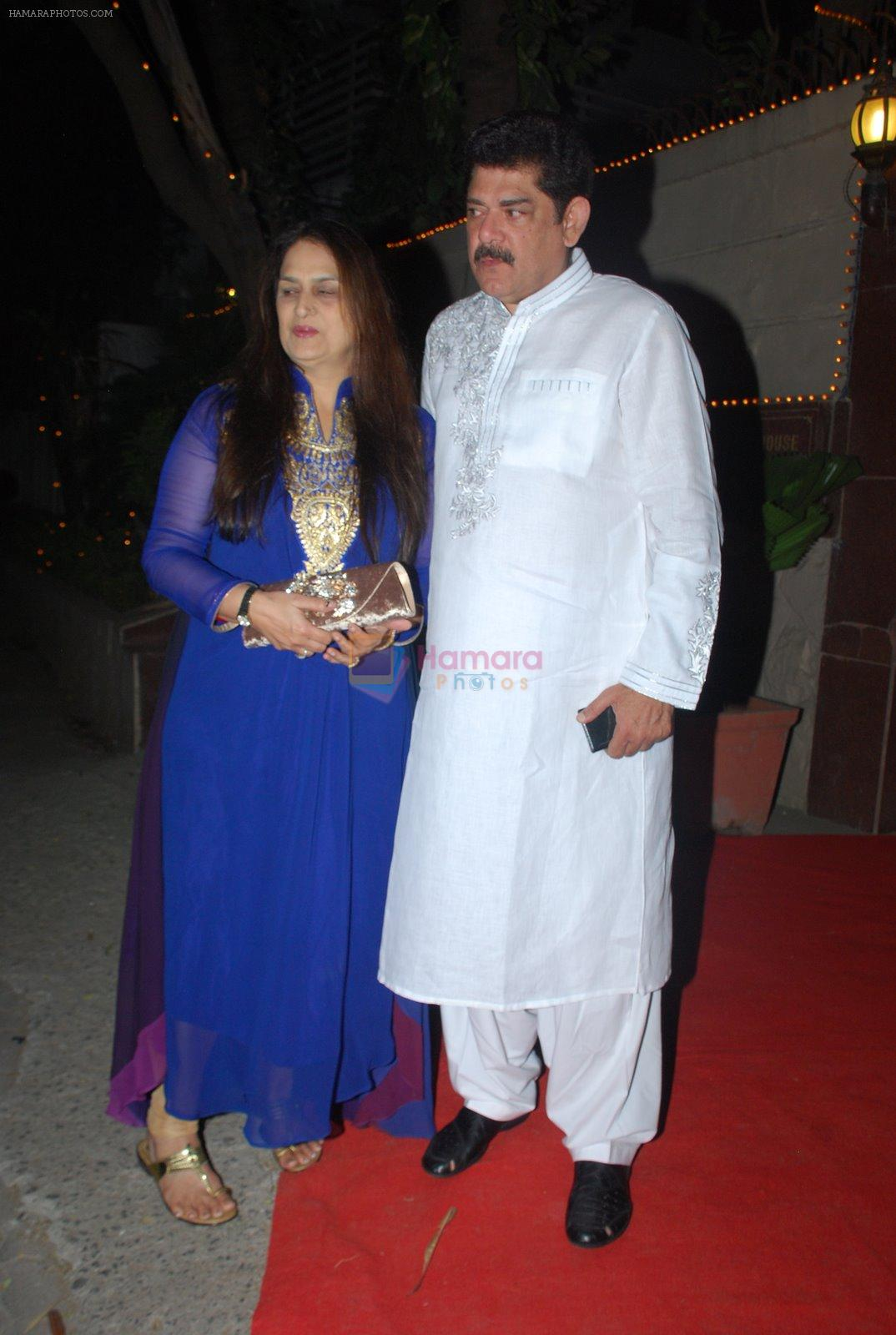 Pankaj Dheer at Bappi Lahiri's wedding anniversary in Juhu, Mumbai on 23rd Jan 2014