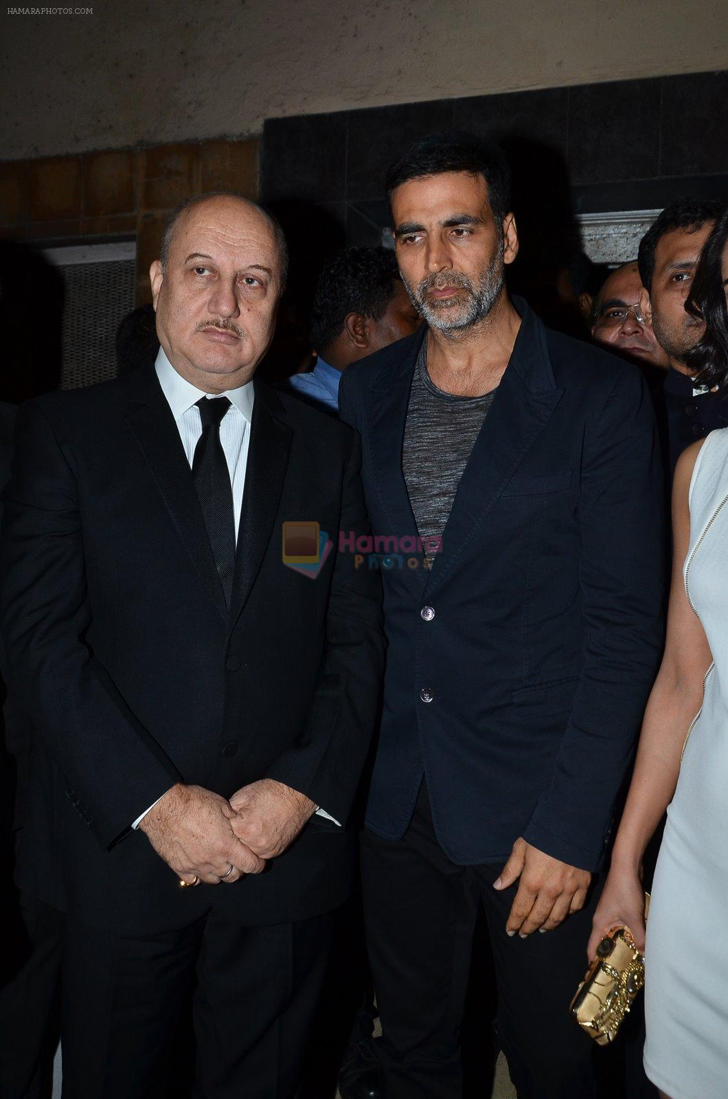 Akshay Kumar, Anupam Kher at Baby screening in Liberty, Mumbai on 23rd Jan 2015