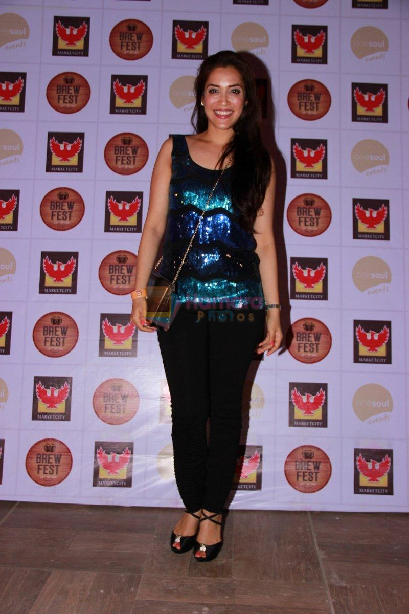 Rashmi Nigam at the Brew Fest in Mumbai on 23rd Jan 2015
