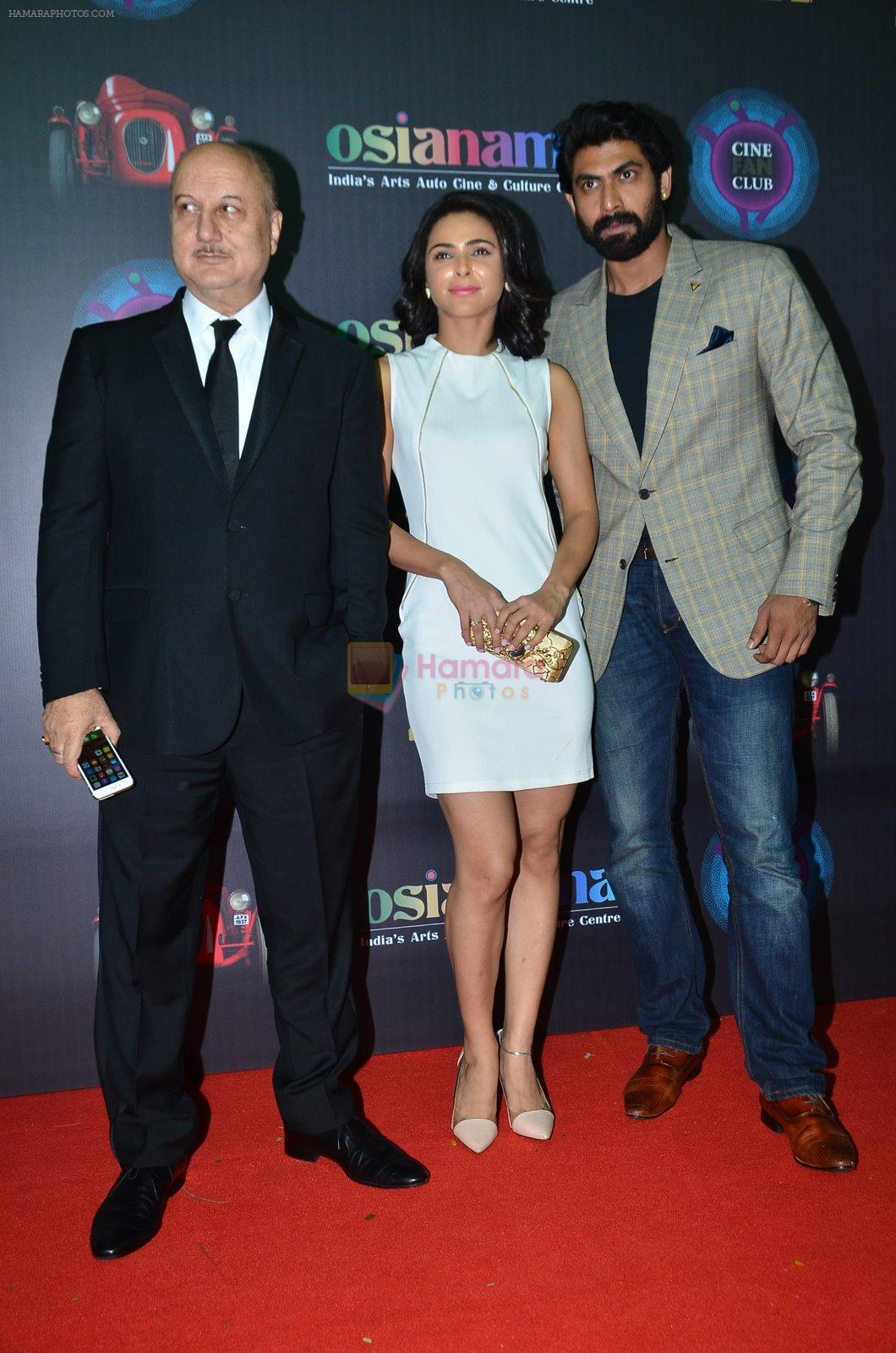 Anupam Kher, Madhurima Tuli, Rana Daggubati at Baby screening in Liberty, Mumbai on 23rd Jan 2015