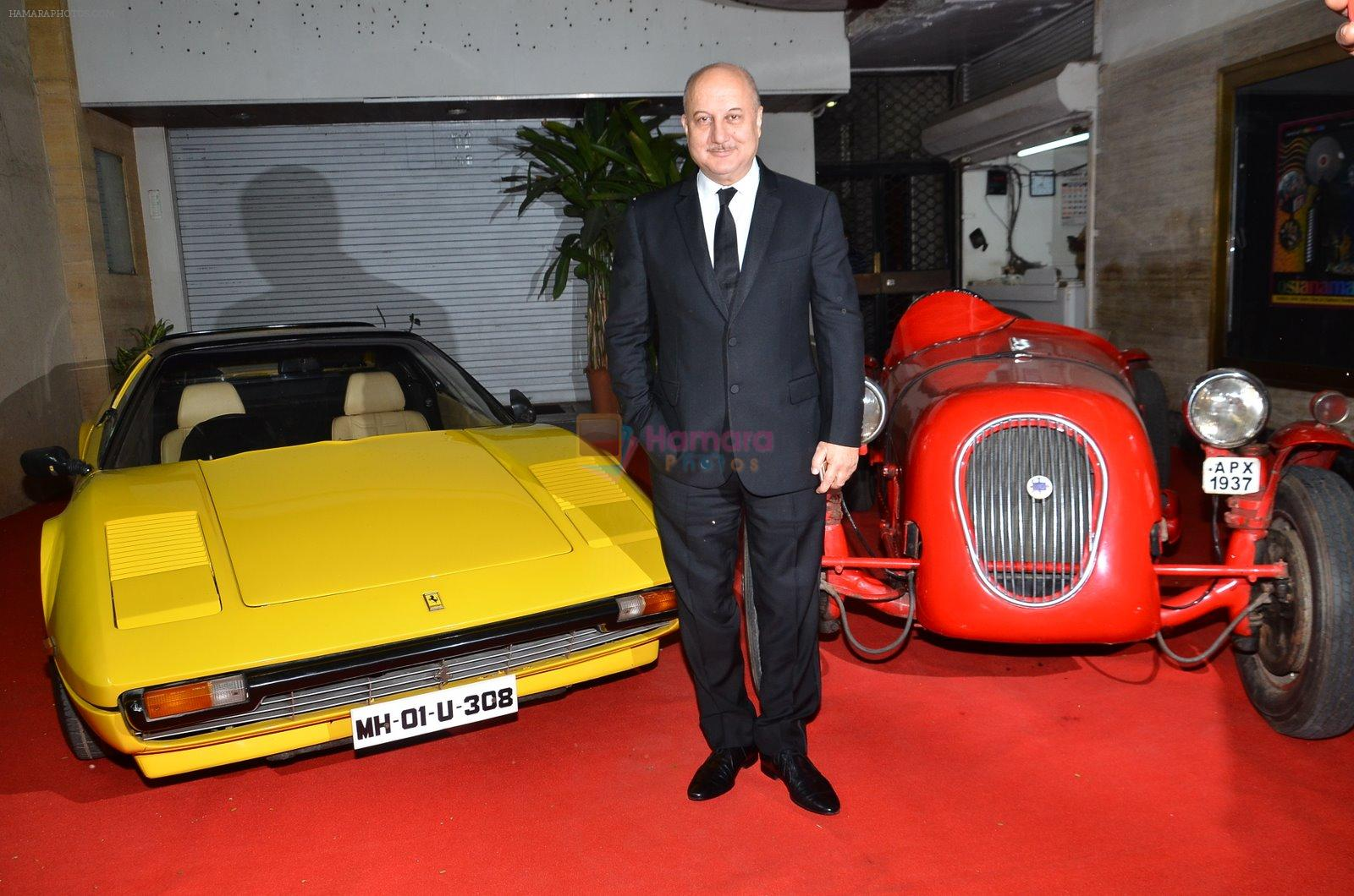 Anupam Kher at Baby screening in Liberty, Mumbai on 23rd Jan 2015