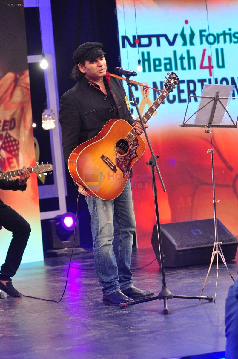 Mohit Chauhan at NDTV Fortis Health 4U Cancerthon Campaig on 8th Feb 2015