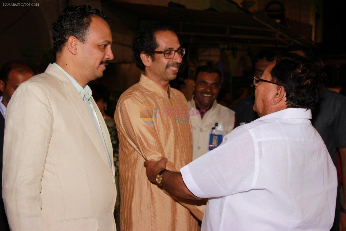 Uddhav Thackeray at Designer Manali Jagtap's Wedding Reception in Mumbai on 11th Feb 2015