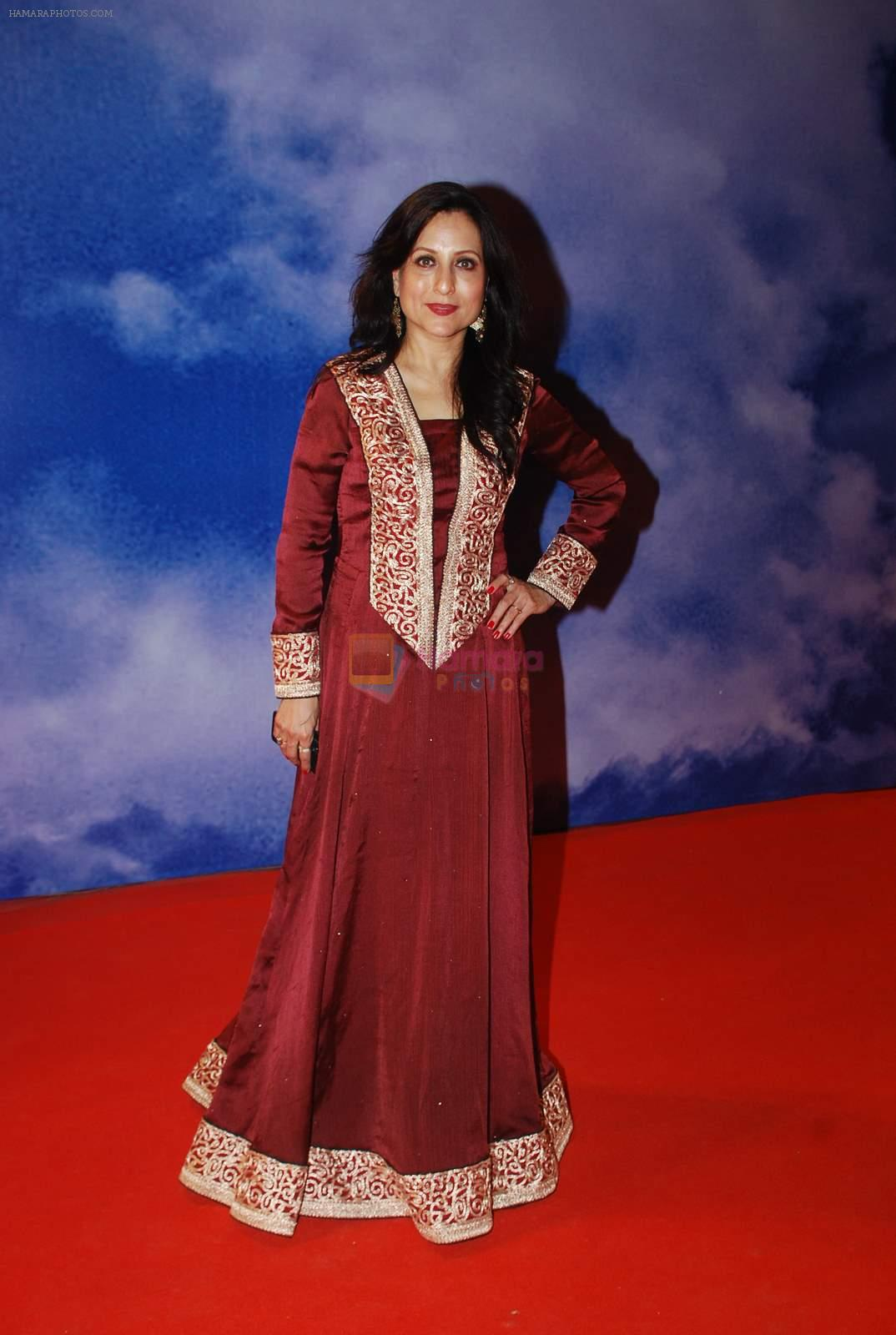 Kishori Shahane at Zee Marathi Gaurav Awards in BKC, Mumbai on 13th March 2015