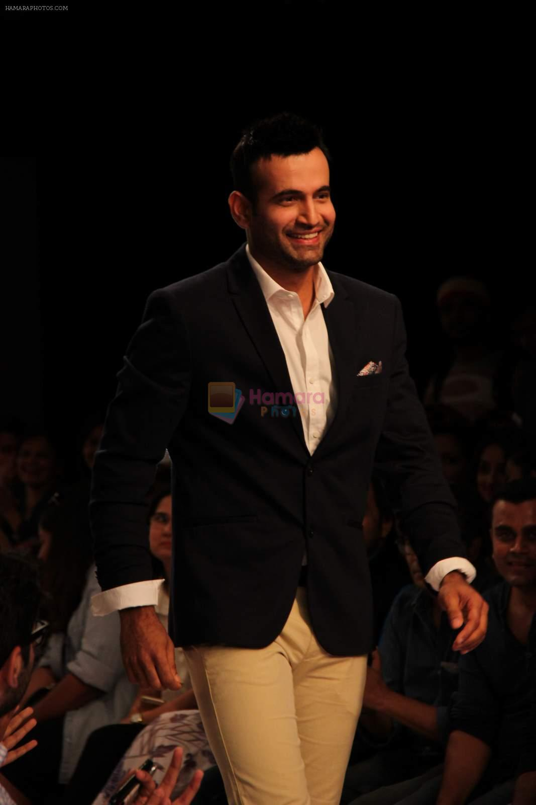 Irfan Pathan walks the ramp for Killer and Easies Show at Lakme Fashion Week 2015 Day 2 on 19th March 2015